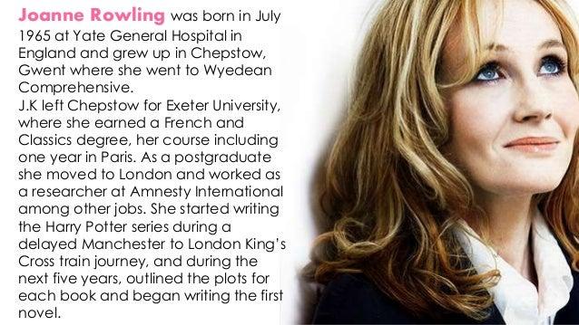 joanne k rowling biography