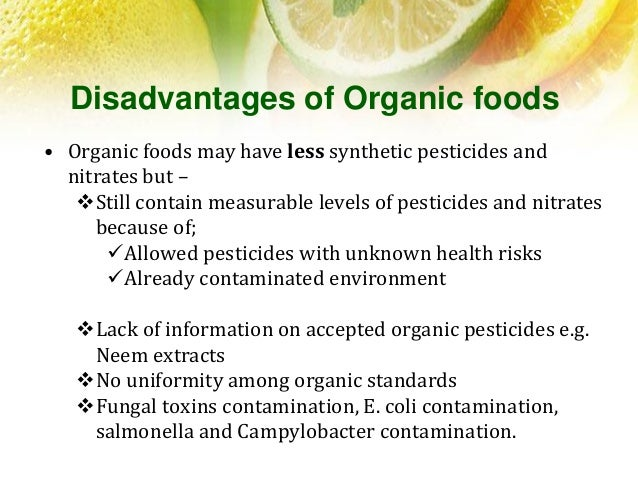 Disadvantages Of Eating Non Organic Food