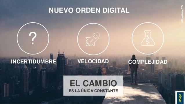 NUEVO ORDEN DIGITAL INCERTIDUMBRE VELOCIDAD COMPLEJIDAD EL CAMBIO ES LA ÚNICA CONSTANTE #RoadmapTD ?