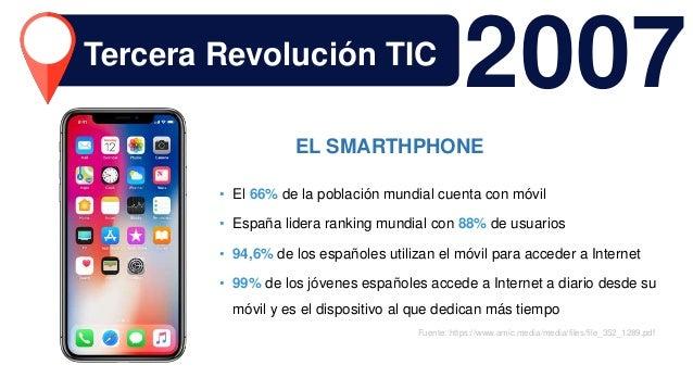 2007 • El 66% de la población mundial cuenta con móvil • España lidera ranking mundial con 88% de usuarios • 94,6% de los ...