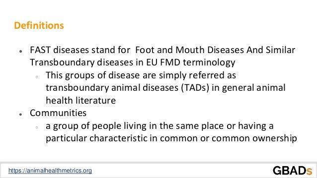 Socioeconomic impact of FAST diseases on local communities Slide 3