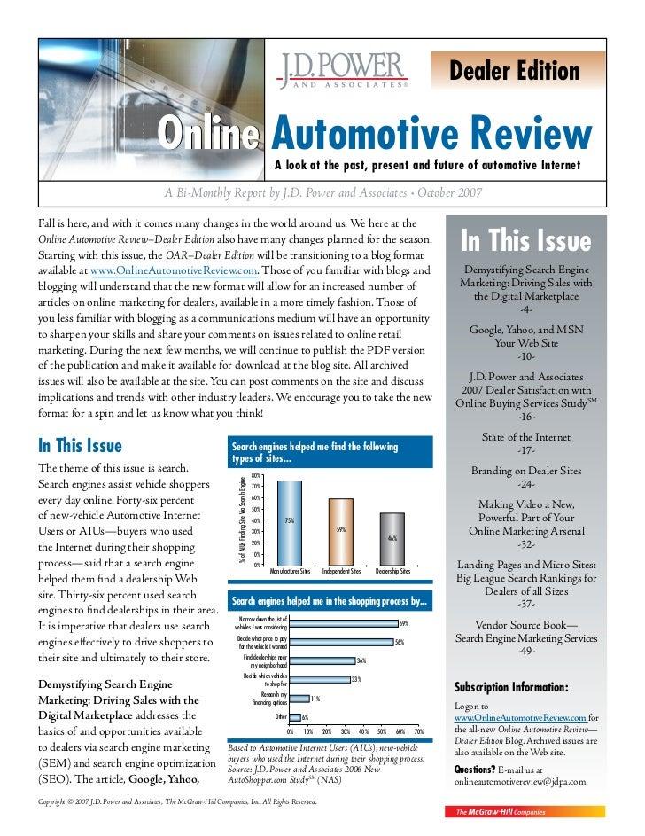 Dealer Edition                                        Online Automotive Review                                            ...