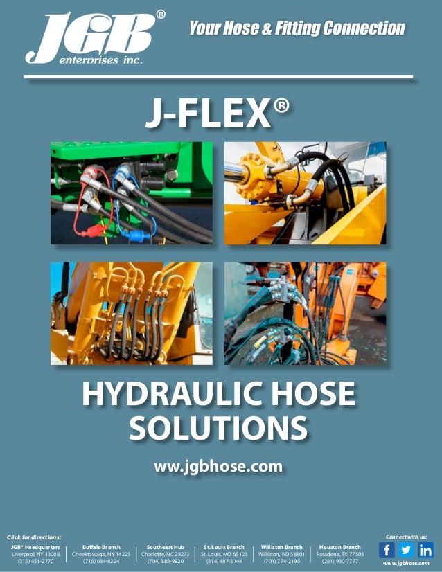 Low-Medium Pressure JGB Enterprises 171-1008-2320I-100 J-Flex Hydraulic Hose 2320 psi Maximum Pressure 100 Synthetic Rubber 1-Wire 0.5 Id