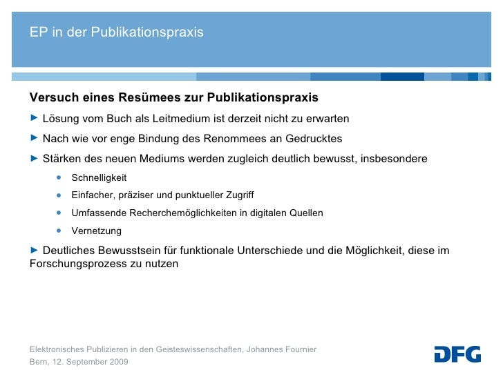 <ul><li>Versuch eines Resümees zur Publikationspraxis </li></ul><ul><li>Lösung vom Buch als Leitmedium ist derzeit nicht z...