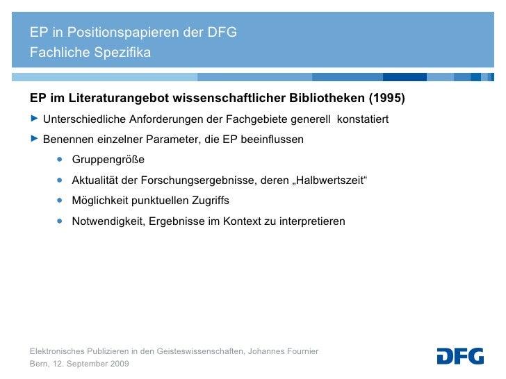 <ul><li>EP im Literaturangebot wissenschaftlicher Bibliotheken (1995) </li></ul><ul><li>Unterschiedliche Anforderungen der...