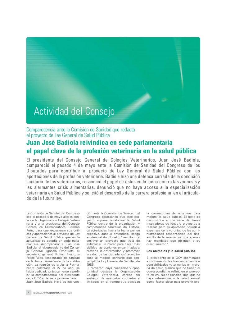 05_11_informacion_veterinaria_mayo_2011:Maquetación 1 21/06/2011 12:54 Página 4               Actividad del Consejo       ...