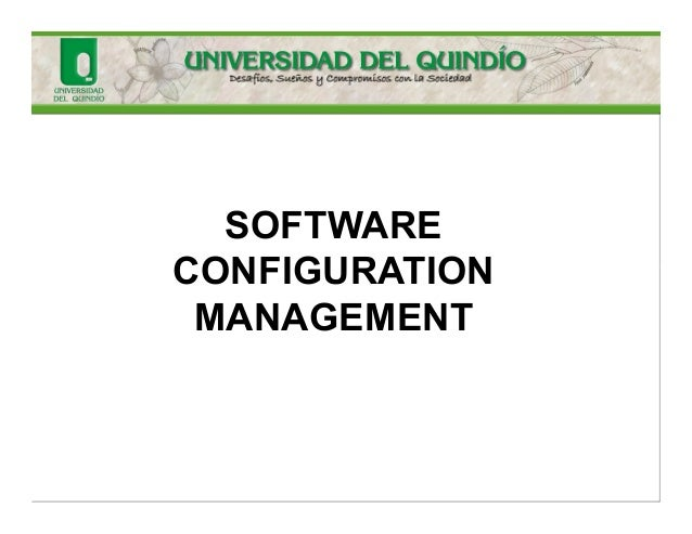 software configuration management thesis Purpose: the purpose of this thesis is to examine various configuration management systems and evaluate them according to the platform & standards department, where the thesis has been written, has started to work with emerged and for the help with acquiring some necessary software applications udo krüger.