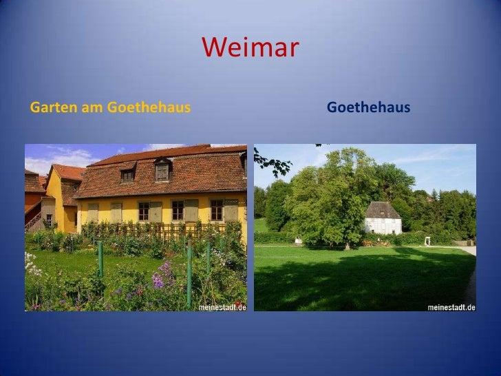 Weimar<br />Garten am Goethehaus<br />Goethehaus<br />