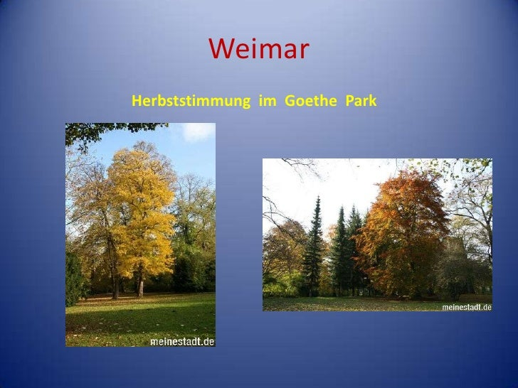 Weimar<br />Herbststimmungim  Goethe  Park<br />