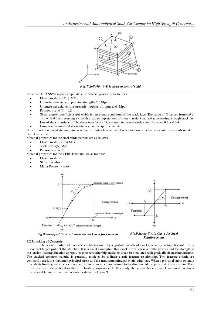 research papers on properties of steel reinforcement Studies of glass fiber reinforced  research paper introduction aims and scope  utilizing steel reinforcement as high tensile.