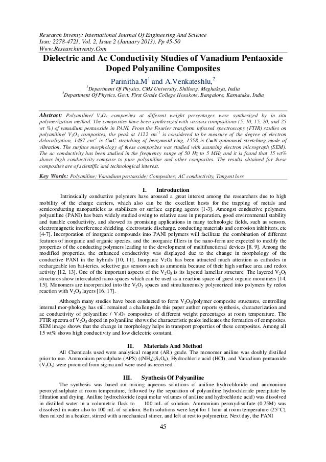 Research Inventy: International Journal Of Engineering And ScienceIssn: 2278-4721, Vol. 2, Issue 2 (January 2013), Pp 45-5...