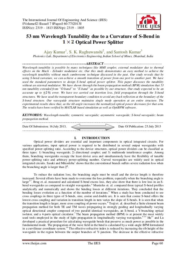 The International Journal Of Engineering And Science (IJES) ||Volume||2 ||Issue|| 7 ||Pages|| 60-77||2013|| ISSN(e): 2319 ...