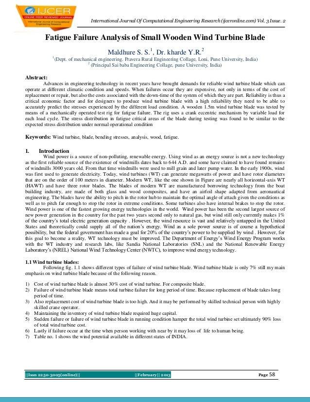 International Journal Of Computational Engineering Research (ijceronline.com) Vol. 3 Issue. 2          Fatigue Failure Ana...