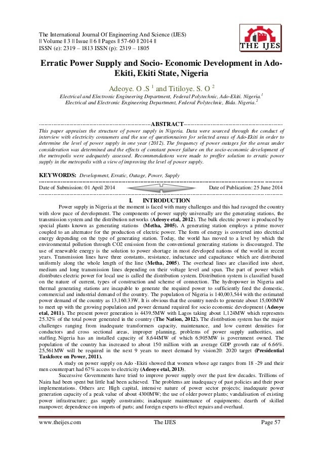 The International Journal Of Engineering And Science (IJES) || Volume || 3 || Issue || 6 || Pages || 57-60 || 2014 || ISSN...