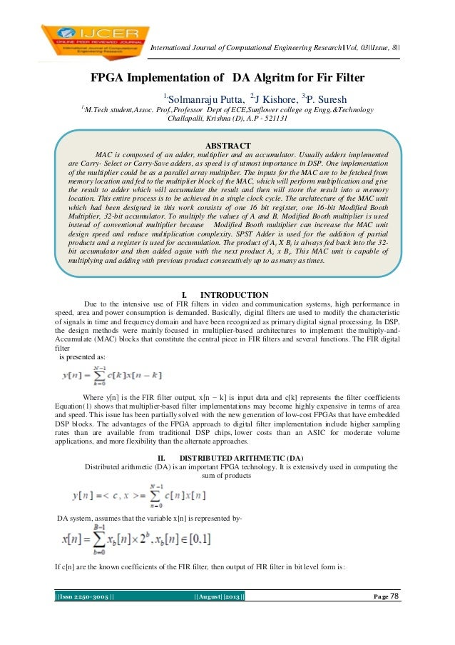 International Journal of Computational Engineering Research  Vol, 03  Issue, 8     Issn 2250-3005      August  2013   Page...