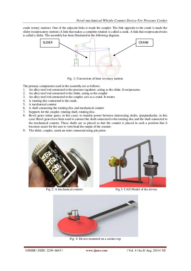 Novel Mechanical Whistle Counter Device For Pressure Cooker