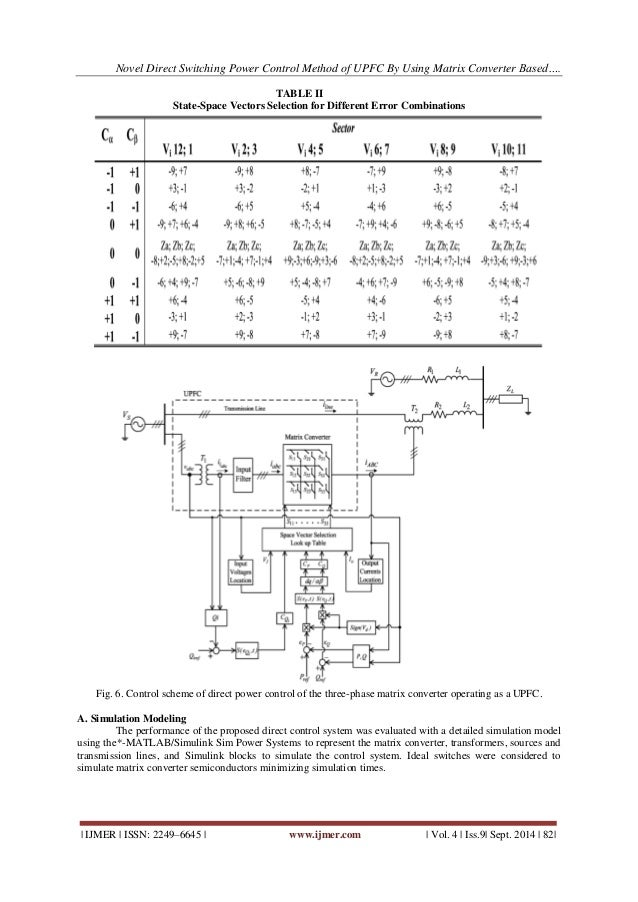 Novel Direct Switching Power Control Method of UPFC by