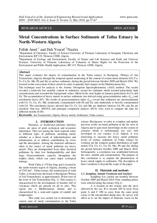 Dali Youcef et al Int. Journal of Engineering Research and Applications www.ijera.com ISSN : 2248-9622, Vol. 4, Issue 5( V...