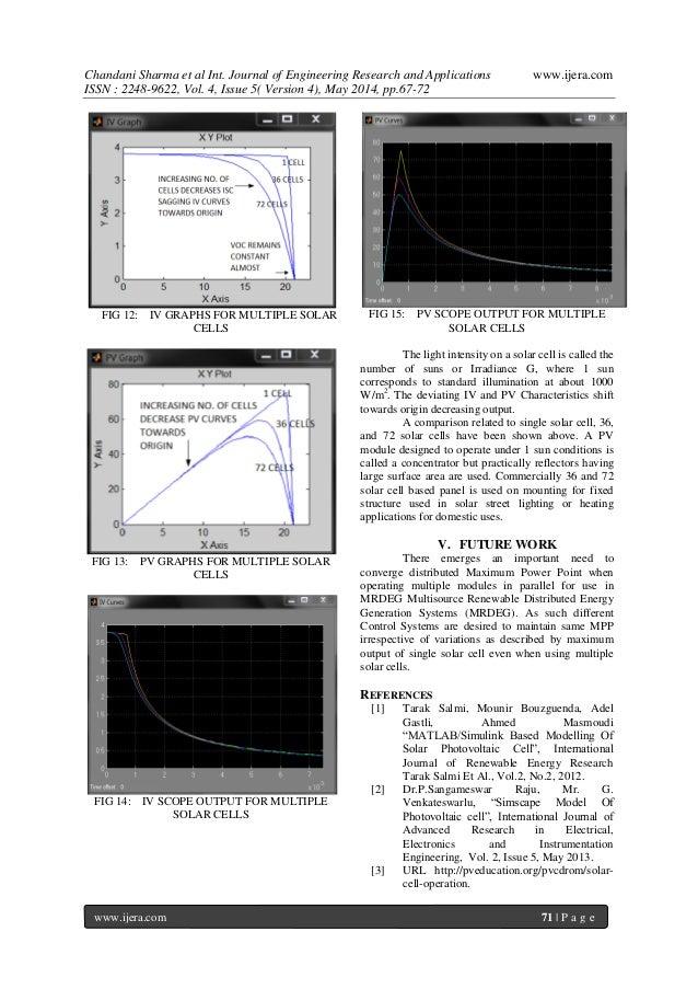 Solar Panel Mathematical Modelling Using Simulink