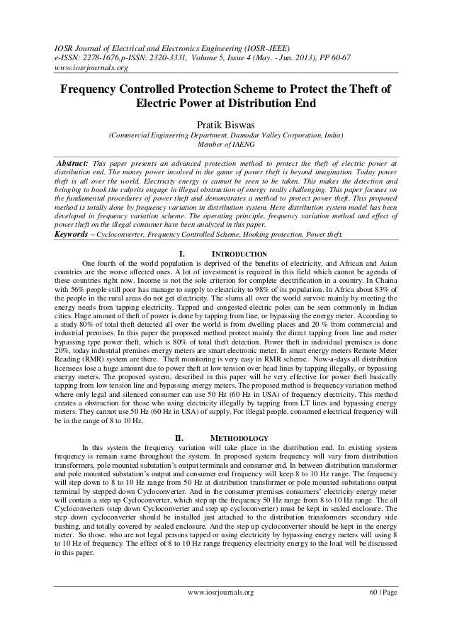 IOSR Journal of Electrical and Electronics Engineering (IOSR-JEEE) e-ISSN: 2278-1676,p-ISSN: 2320-3331, Volume 5, Issue 4 ...