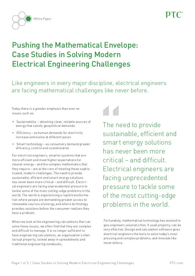 White Paper  Pushing the Mathematical Envelope: Case Studies in Solving Modern Electrical Engineering Challenges Like engi...