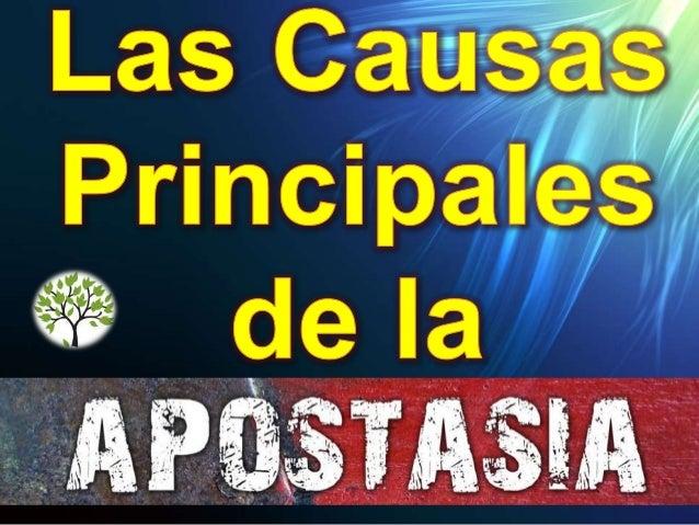 Que es la apostasía Del griego apostamai. El término griego correspondiente se deriva del verbo a·fí·ste·mi, que significa...