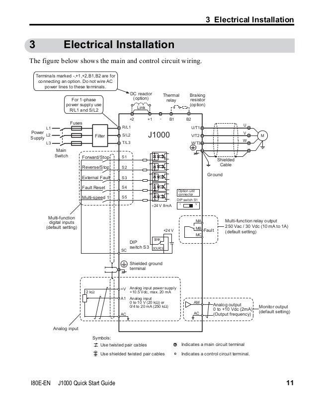 Enjoyable Yaskawa J1000 Wiring Diagram Wiring Diagram Update Wiring Digital Resources Bemuashebarightsorg