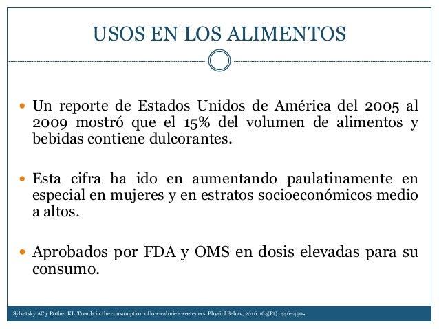USOS EN LOS ALIMENTOS  Un reporte de Estados Unidos de América del 2005 al 2009 mostró que el 15% del volumen de alimento...