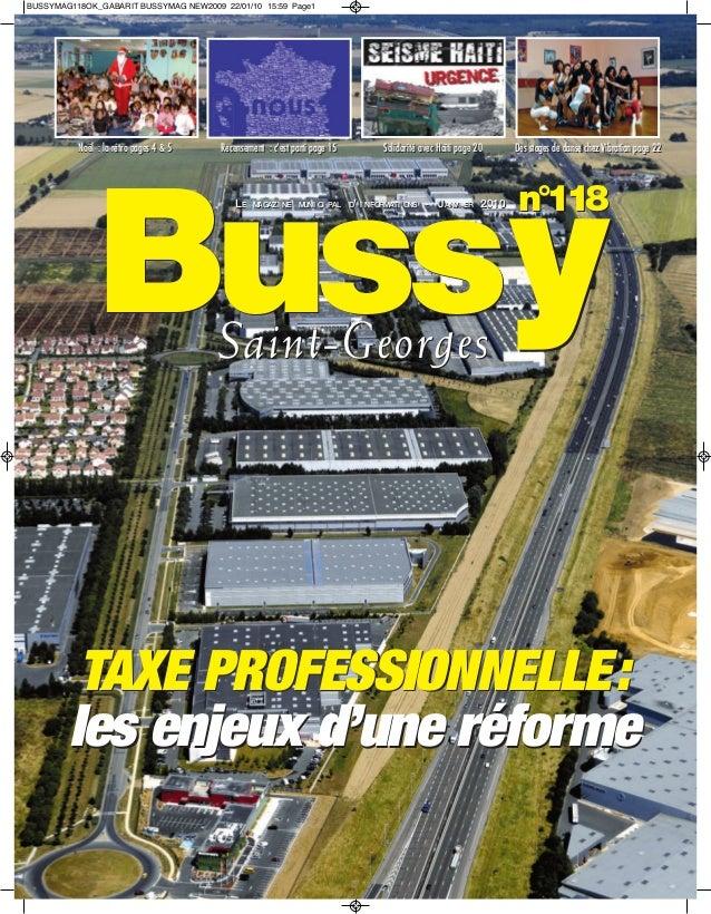 BUSSYMAG118OK_GABARIT BUSSYMAG NEW2009 22/01/10 15:59 Page1          Noël : la rétro pages 4 & 5   Recensement : c'est par...