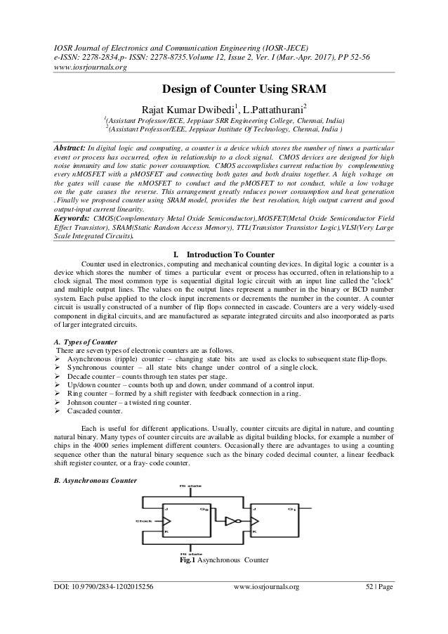 Design of Counter Using SRAM