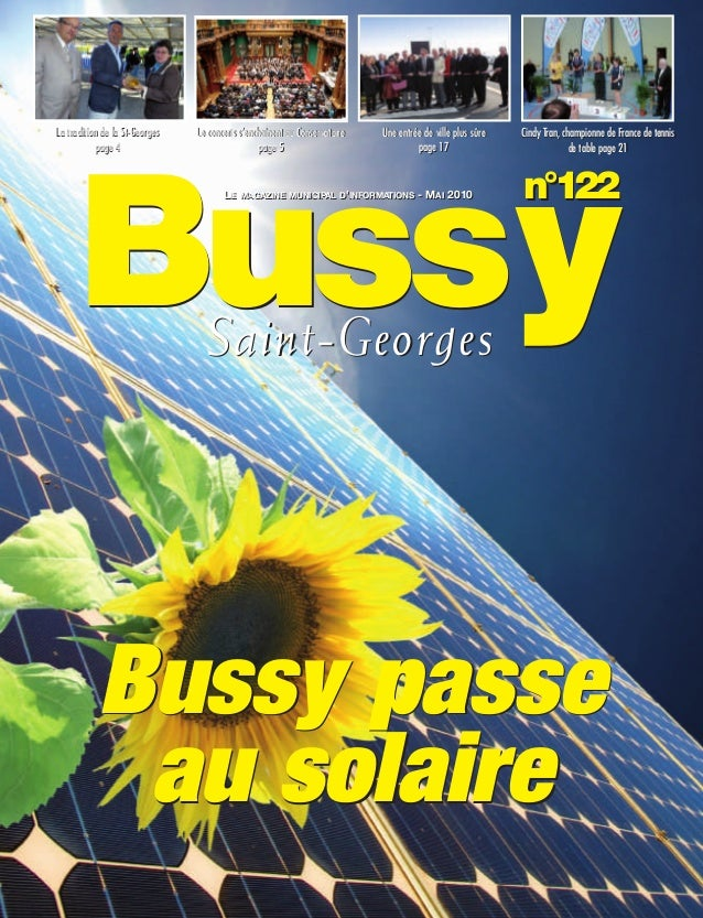 BUSSYMAG122_GABARIT BUSSYMAG NEW2009 26/05/10 18:43 Page1          La tradition de la St-Georges   Le concerts s'enchaînen...