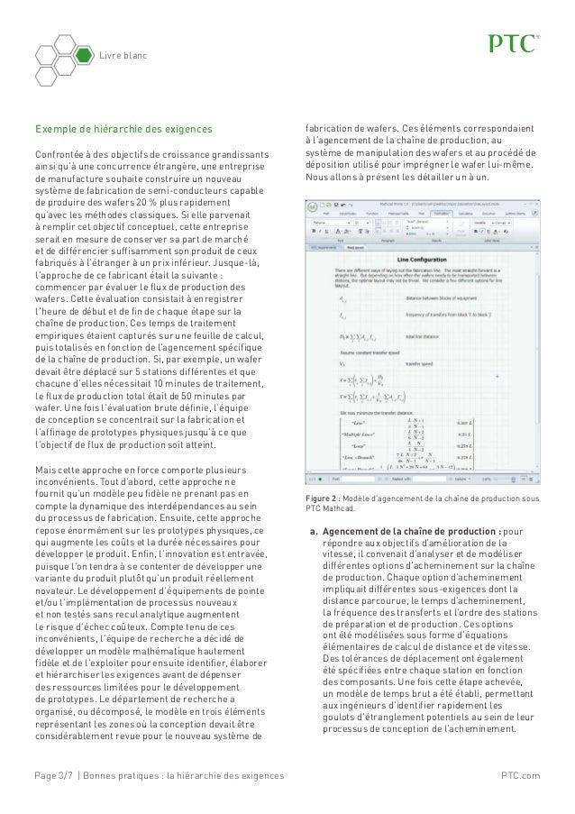 Page 3/7 | Bonnes pratiques: la hiérarchie des exigences Livre blanc PTC.com Exemple de hiérarchie des exigences Confront...