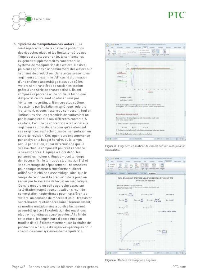 Page 4/7 | Bonnes pratiques: la hiérarchie des exigences Livre blanc PTC.com b. Système de manipulation des wafers: une...