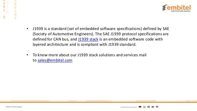 What is J1939 Software Stack?