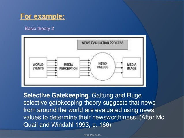 galtung and ruges news values model P65 in other words: how do 'events' become 'news' p65 imagine that the world can be likened to an enormous set of broadcasting stations, each one emitting its signal or its program at its proper wavelength.