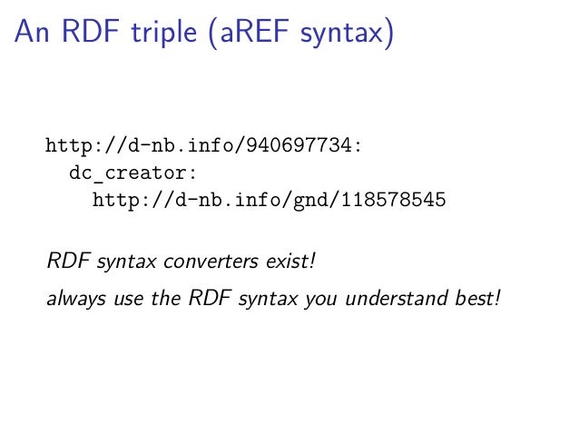 That's RDF!  ▶ all things identified by URIs1  1or a blank node