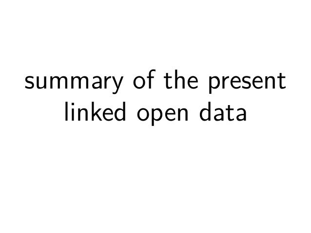 Linked Open Data  1. Data  with URIs, in RDF  2. Open  accesible via HTTP-URIs  3. Linked  contains other HTTP-URIs