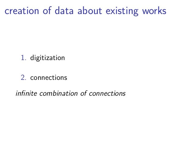 Benefits  ▶ common data format  ▶ accessibility of data  ▶ flexible aggregation and subsets  ▶ collaborative creation
