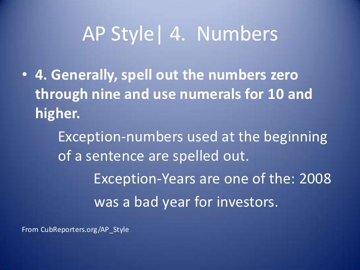 Associated Press (AP) Style Guide - the basics | Middle ...