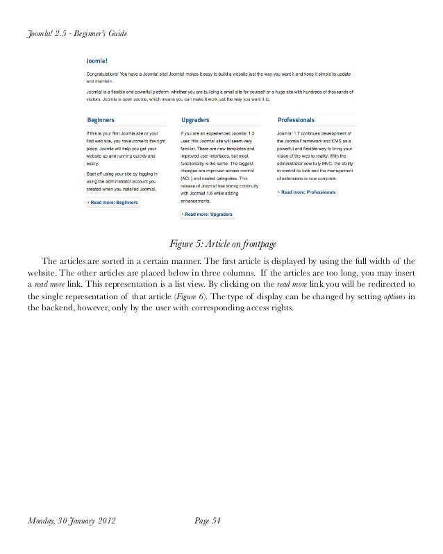 joomla 2 5 tutorial full version