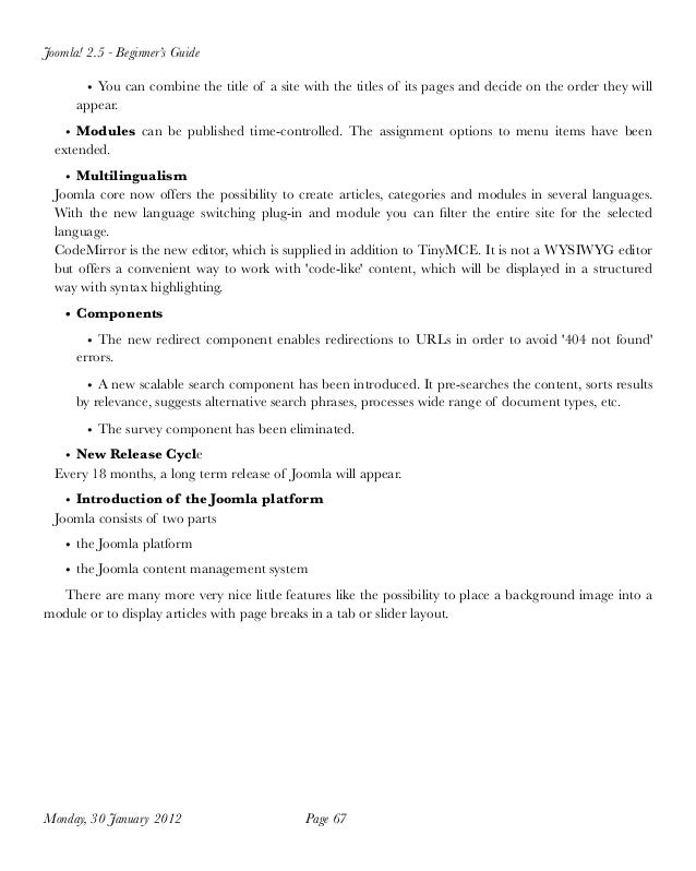 Joomla 2.5 Tutorial For Beginner PDF