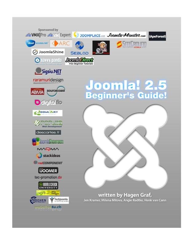 Joomla! 2.5Beginner's Guide2