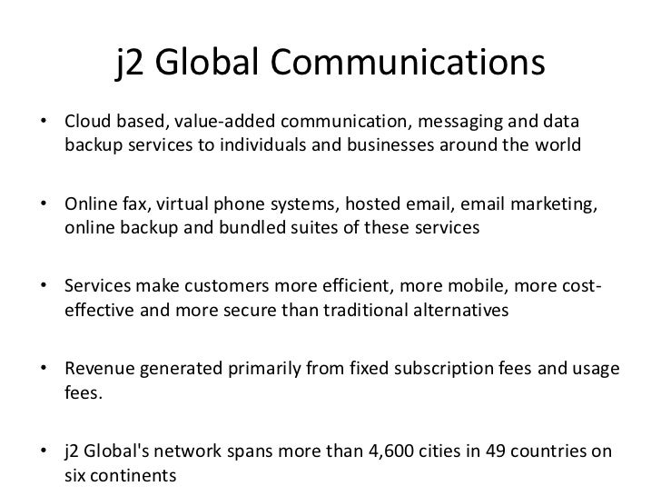 J2 Global Equity Presentation
