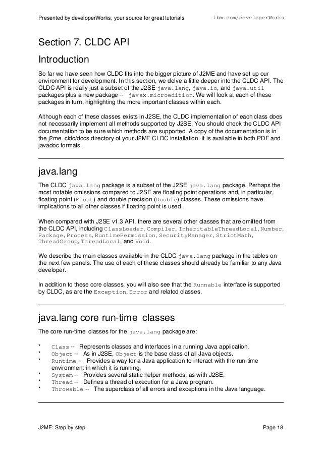 J2me Tutorial For Beginners Pdf