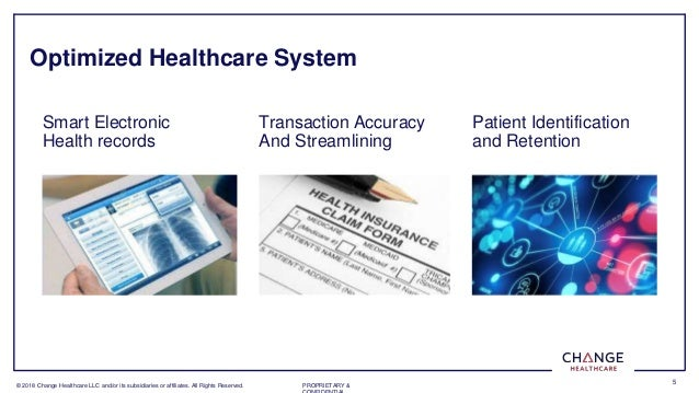 � 2018 Change Healthcare LLC and/or its subsidiaries or affiliates. All Rights Reserved. PROPRIETARY & 5 Optimized Healthc...