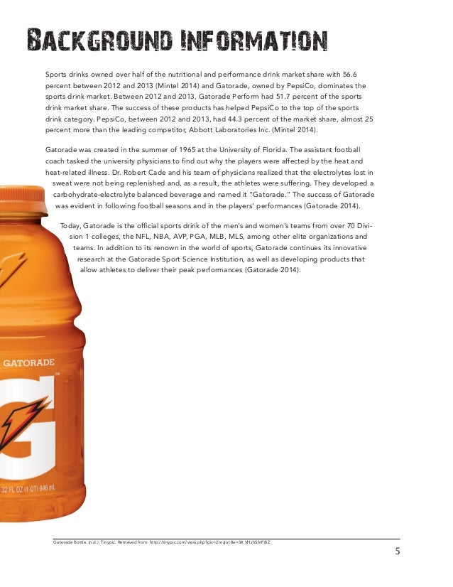 gatorade demographic We sell them at the sporting goods store i work at they don't taste bad tastes more like capri sun than gatorade.