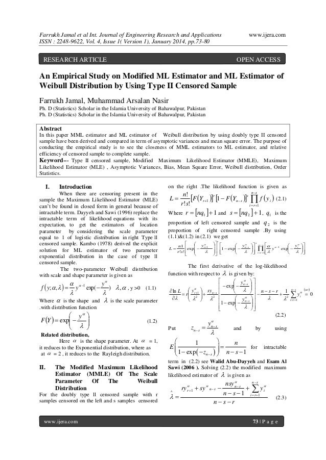Farrukh Jamal et al Int. Journal of Engineering Research and Applications ISSN : 2248-9622, Vol. 4, Issue 1( Version 1), J...
