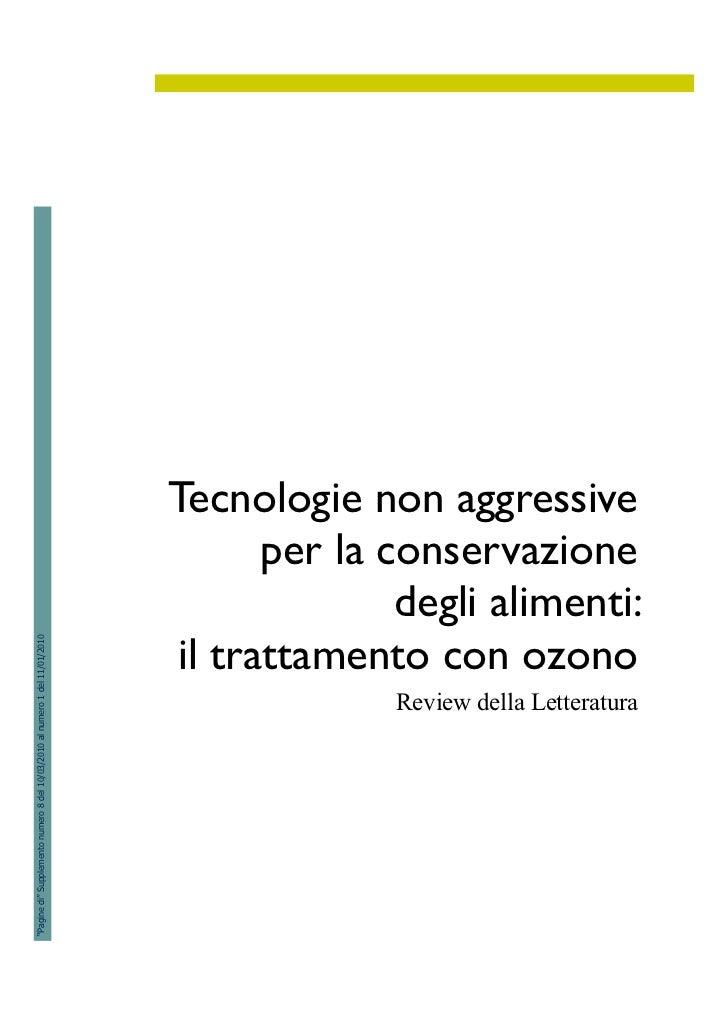Tecnologie non aggressive                                                                                    per la conser...
