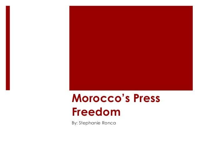 Morocco's PressFreedomBy: Stephanie Ronca
