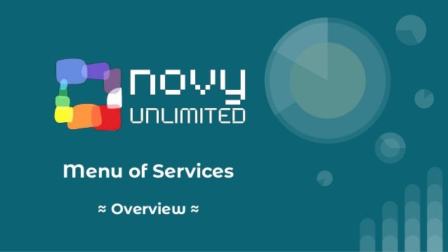 Menu of Services ≈ Overview ≈
